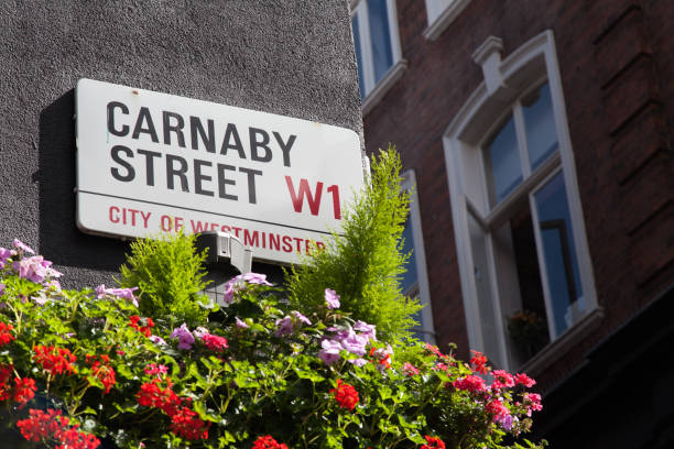 Carnaby Street W1 - City of Westminster London Street Sign Carnaby Street W1 - City of Westminster London Street Sign carnaby street stock pictures, royalty-free photos & images