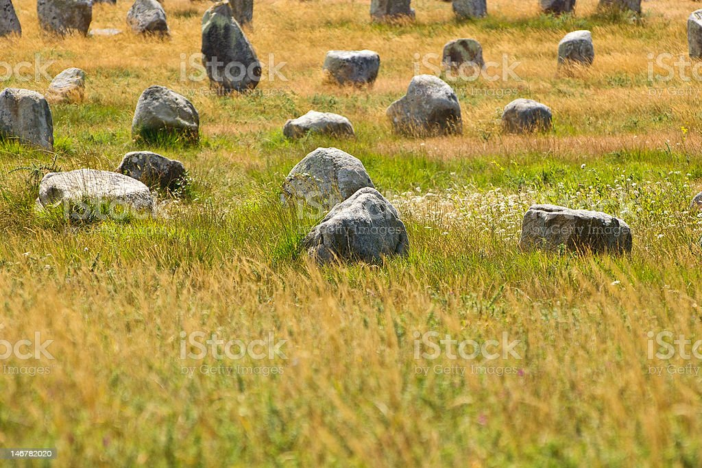 Carnac megaliths royalty-free stock photo