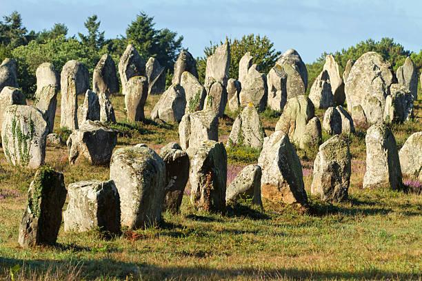 carnac monoliths stock photo