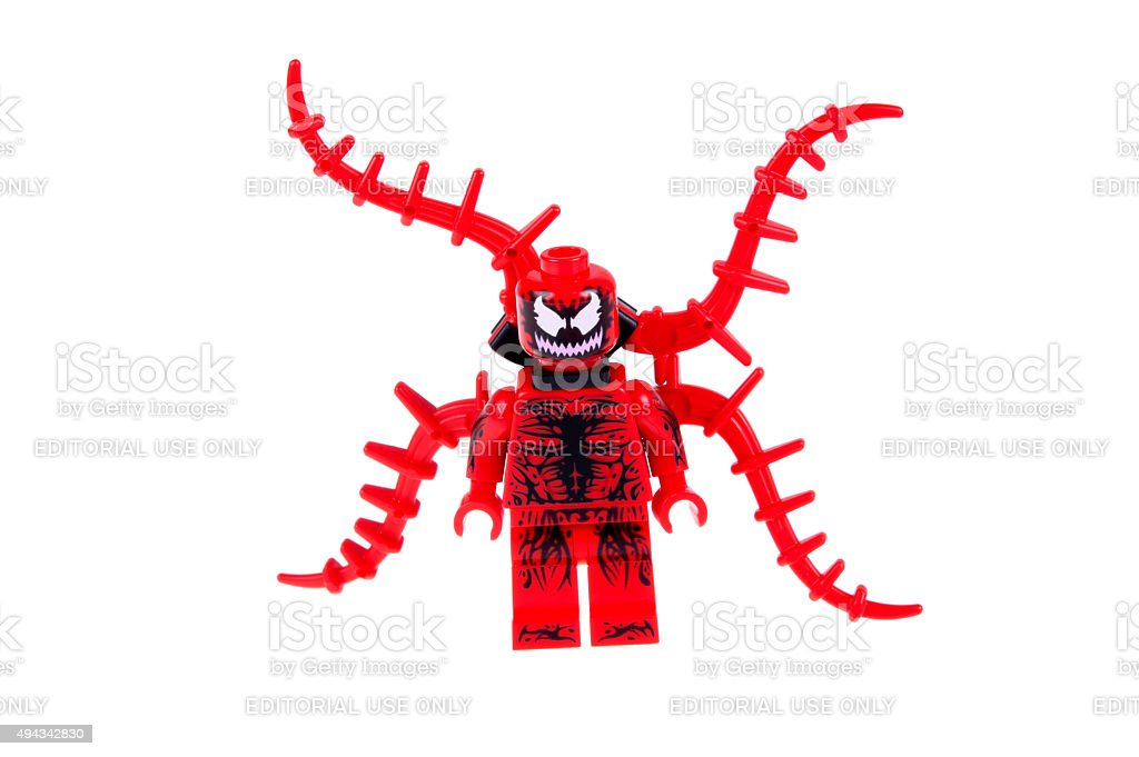 Carnage Minifigure stock photo