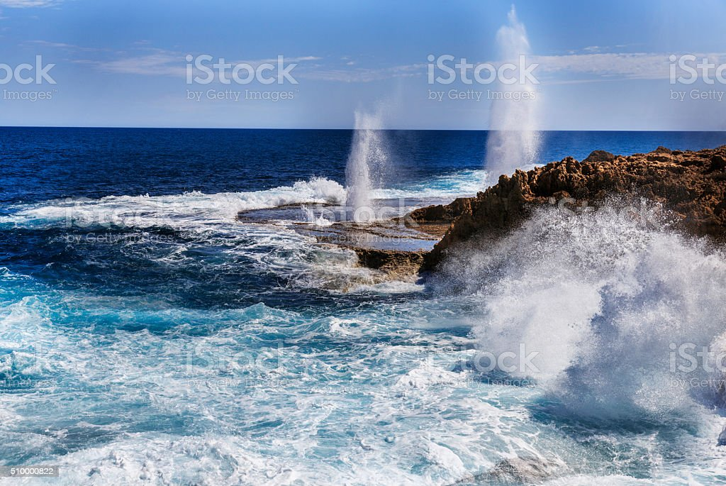 Carnarvon Blowholes, Western Australia stock photo