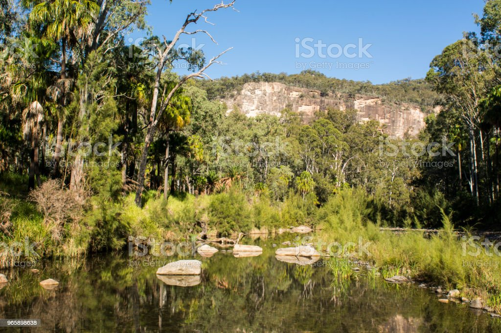 Carnarvon Gorge, Queensland - Royalty-free Aangelegd Stockfoto