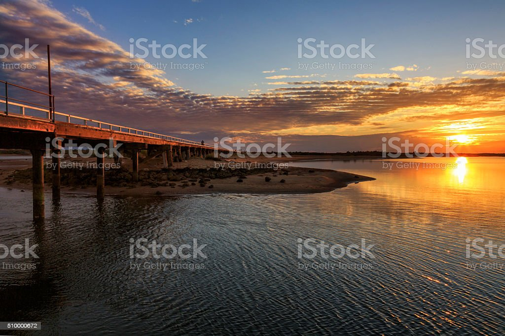 Carnarvon, Western Australia sunset stock photo