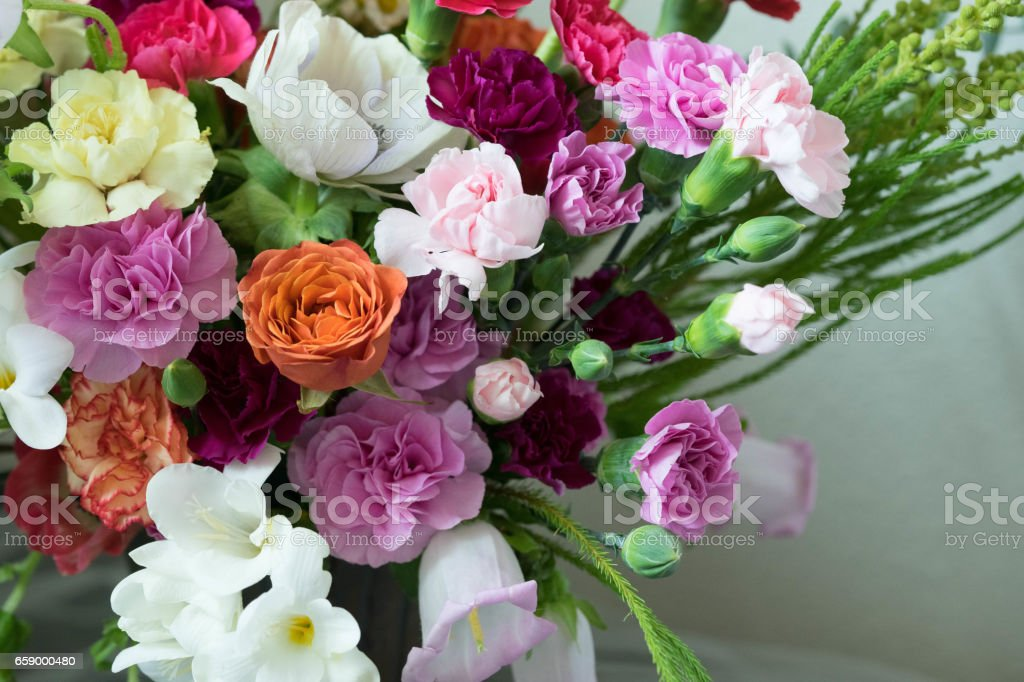 Carnation Flower Arrangement royalty-free stock photo