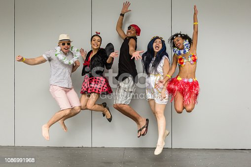 istock Carnaval Party in the city 1086991968
