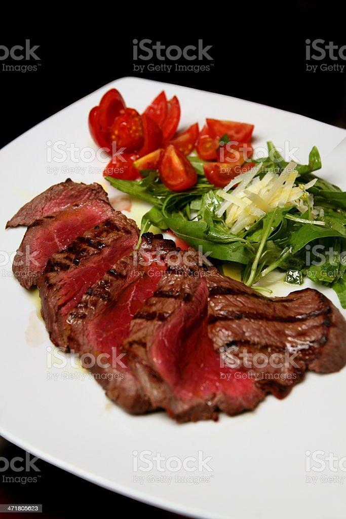 carne con insalata royalty-free stock photo