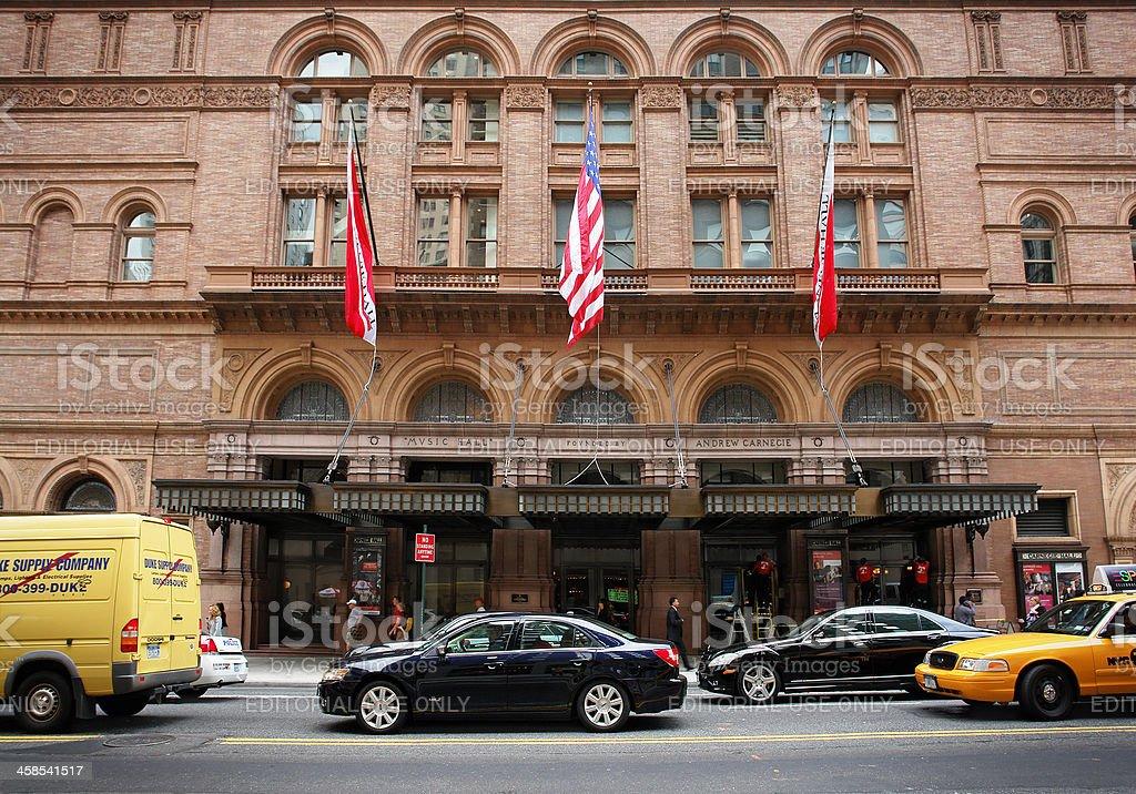 Carnegie Hall in New York stock photo