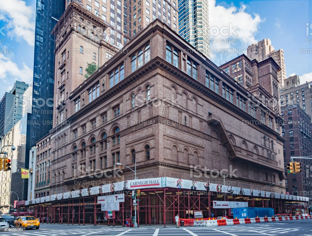 Carnegie Hall Manhattan New York City stock photo