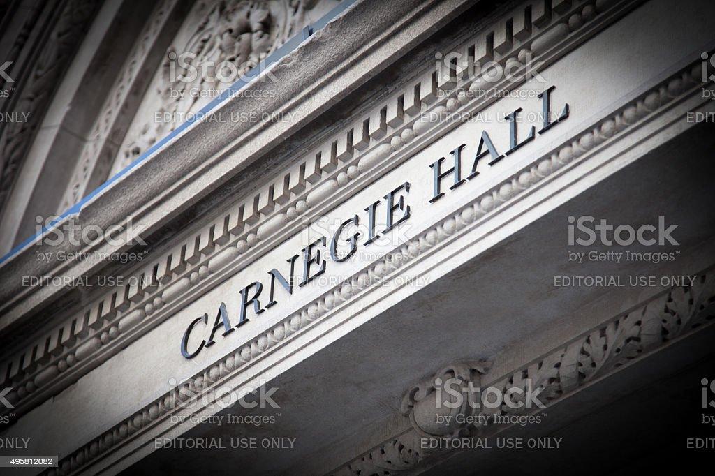 Carnegie Hall New York City stock photo