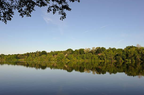 Carnegie Lake in Princeton stock photo