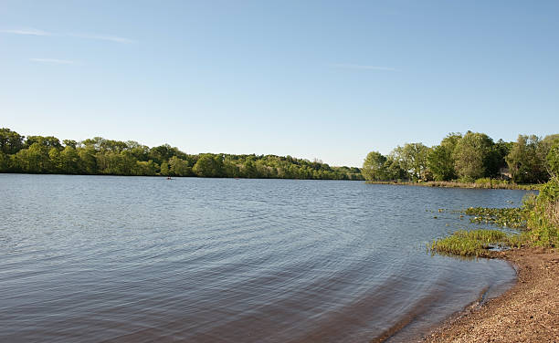 Carnegie Lake stock photo