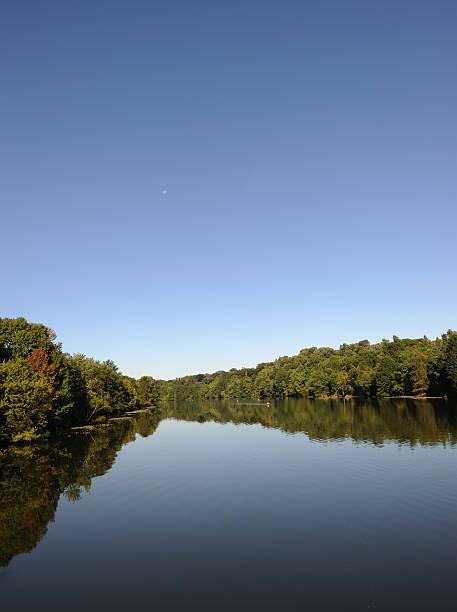 Carnegie Lake View stock photo