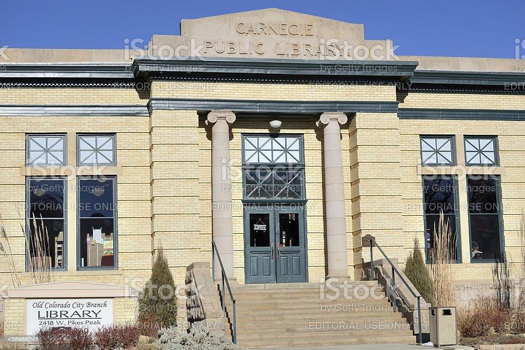Carnegie Public Library stock photo