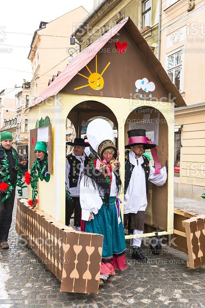 Carneval in Ljubljana royalty-free stock photo