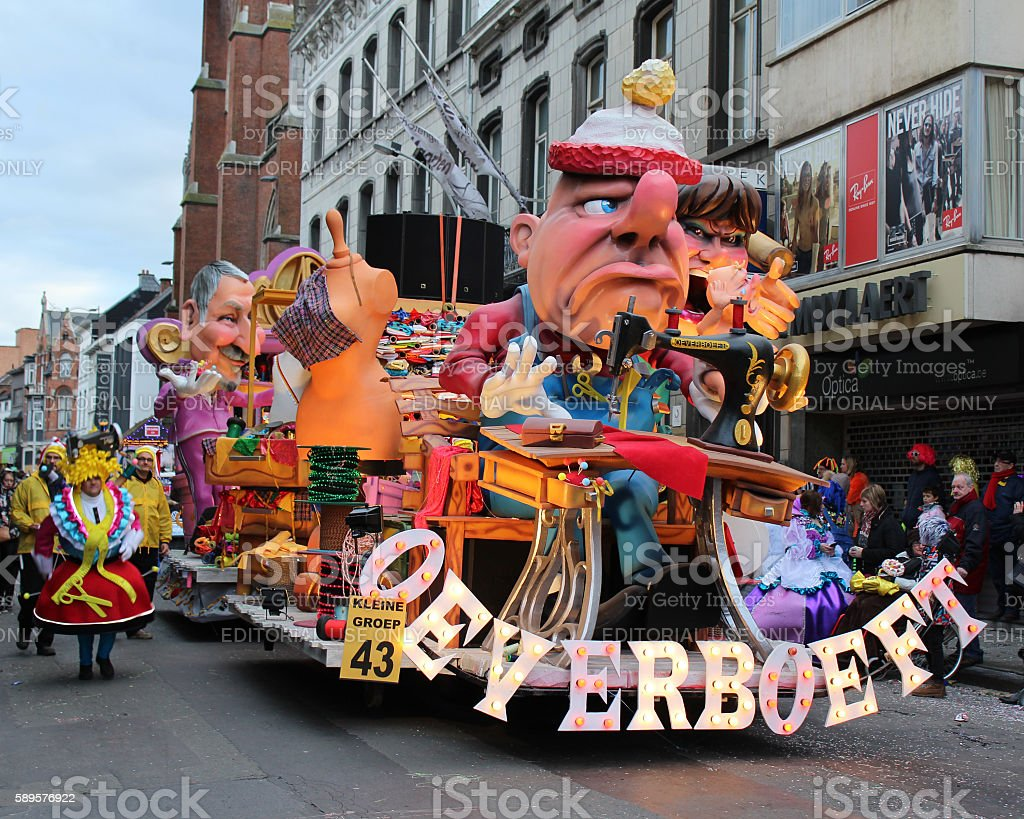 Carnival Aalst 2016 stock photo