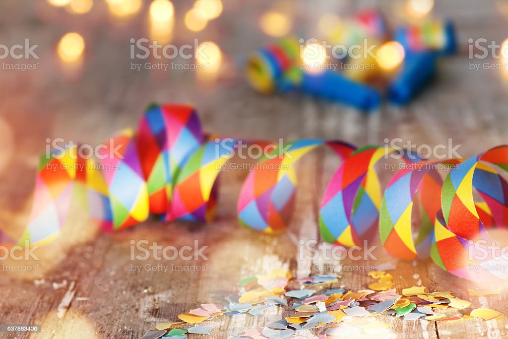 Carnival background with bokeh - foto de acervo