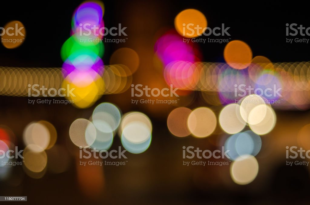 carnival blur light background. Abstract blur street background.
