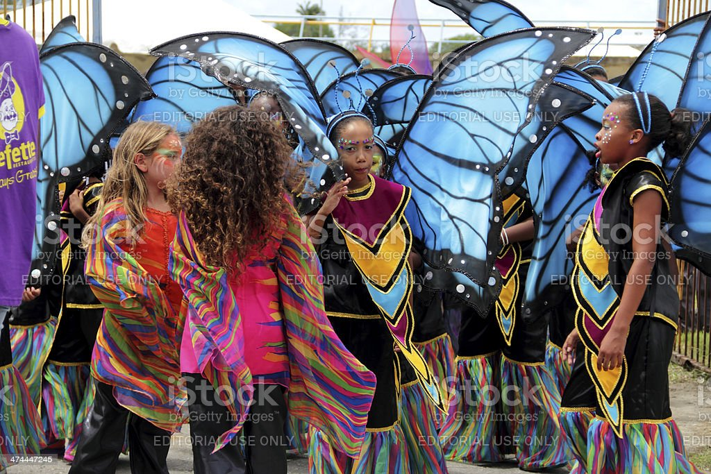 carnival butterfly stock photo
