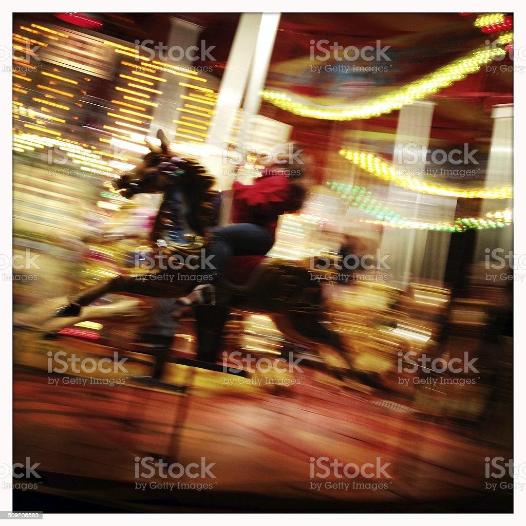 Carnival Carousel royalty-free stock photo