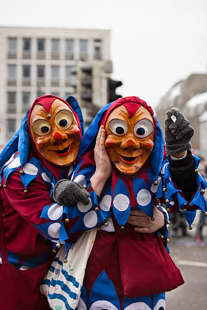 karneval feier in freiburg, deutschland 2013 - fasnacht stock-fotos und bilder