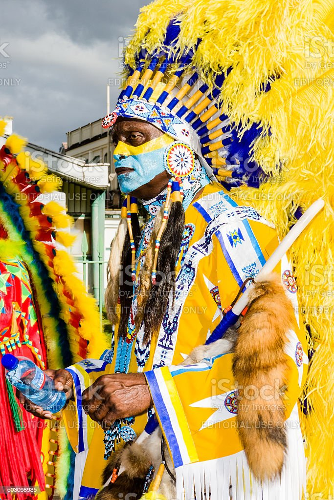 carnival chief yellow stock photo