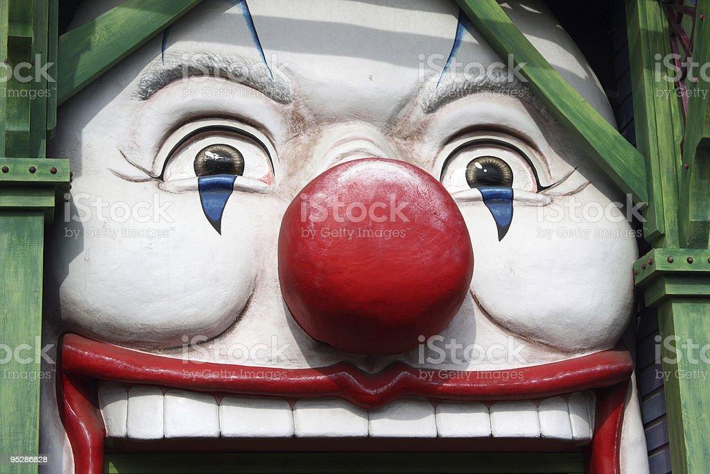 Carnival Clown Face stock photo