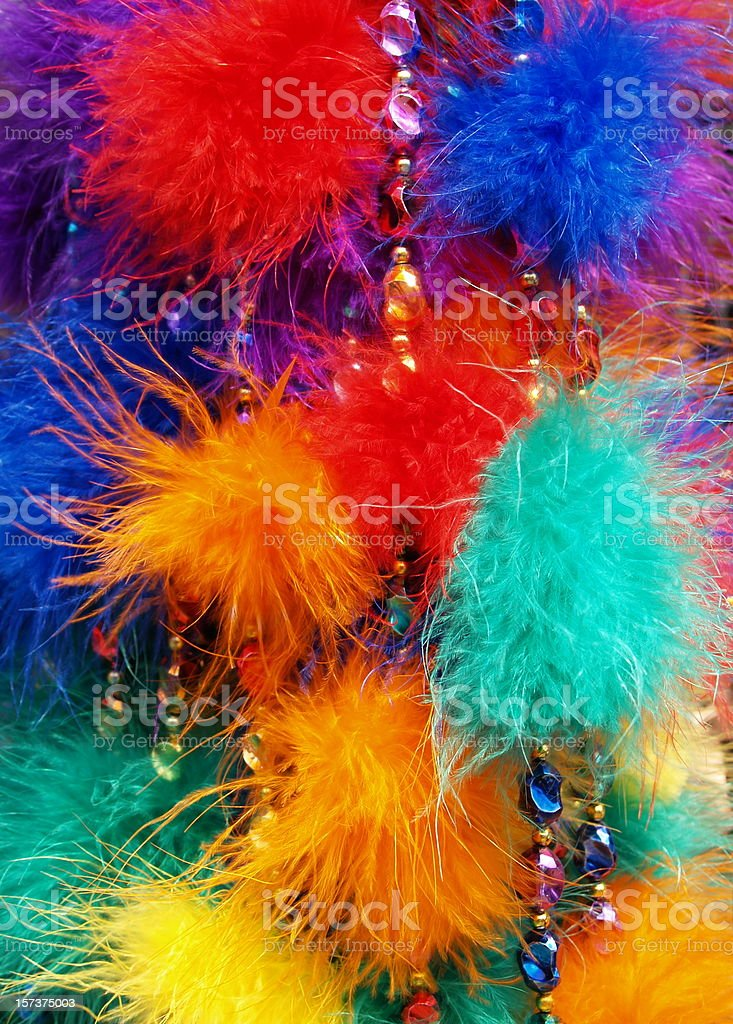 Carnival Colored Feathers royalty-free stock photo