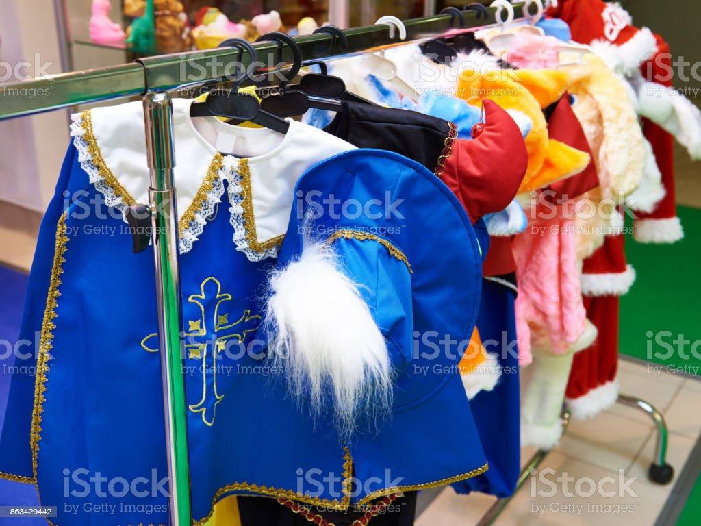 Carnival costume musketeer stock photo