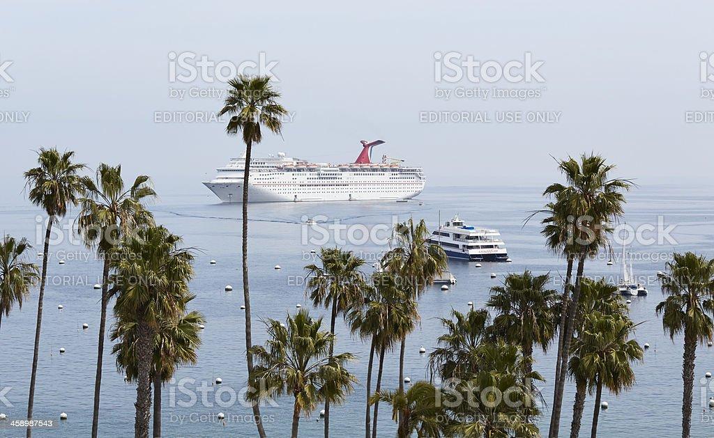 Carnival Cruise Ship Inspriration in Avalon Harbor, Catalina royalty-free stock photo