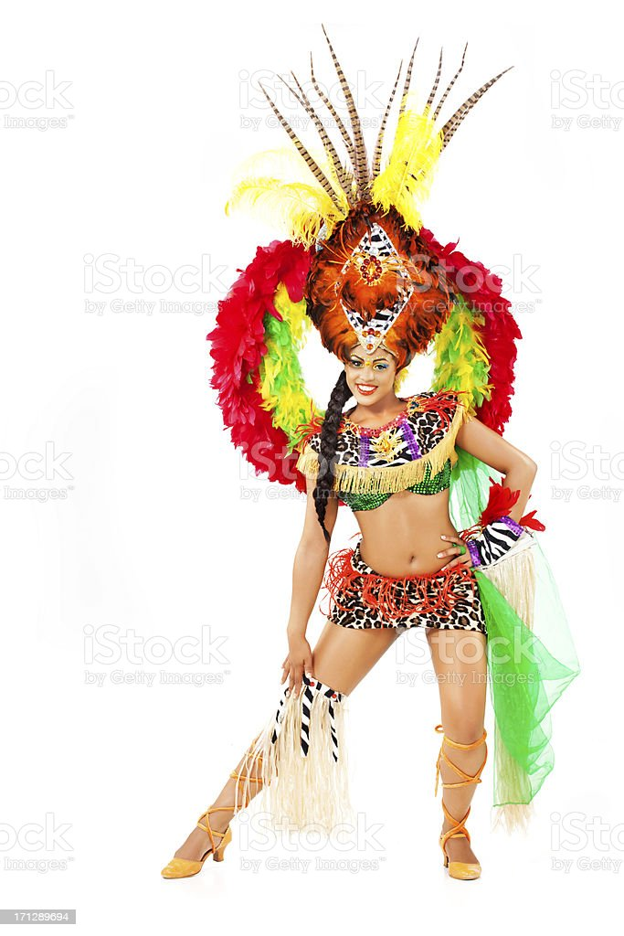 carnival dancer stock photo