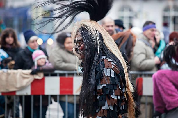 carnival tag in freiburg 2013 - rosa camo party stock-fotos und bilder