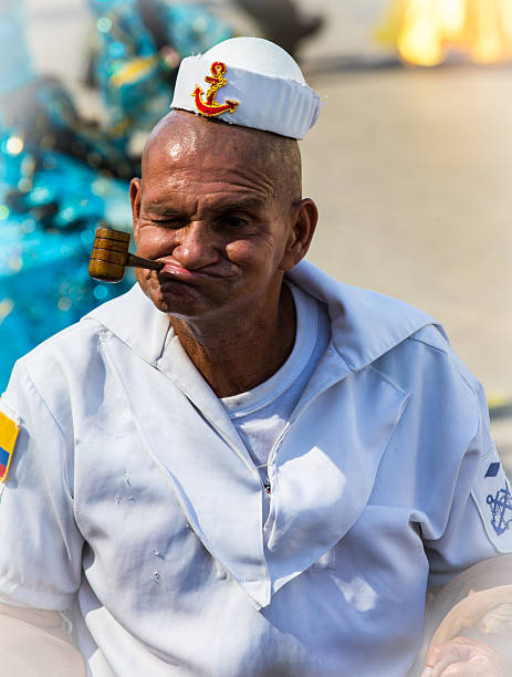 carnival de barranquilla - matrosin kostüm stock-fotos und bilder