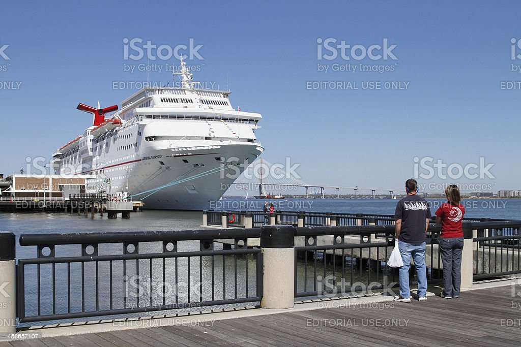 Carnival Fantasy Cruise Ship At Port Of Charleston Sc Stock Photo - Charleston sc cruise ships