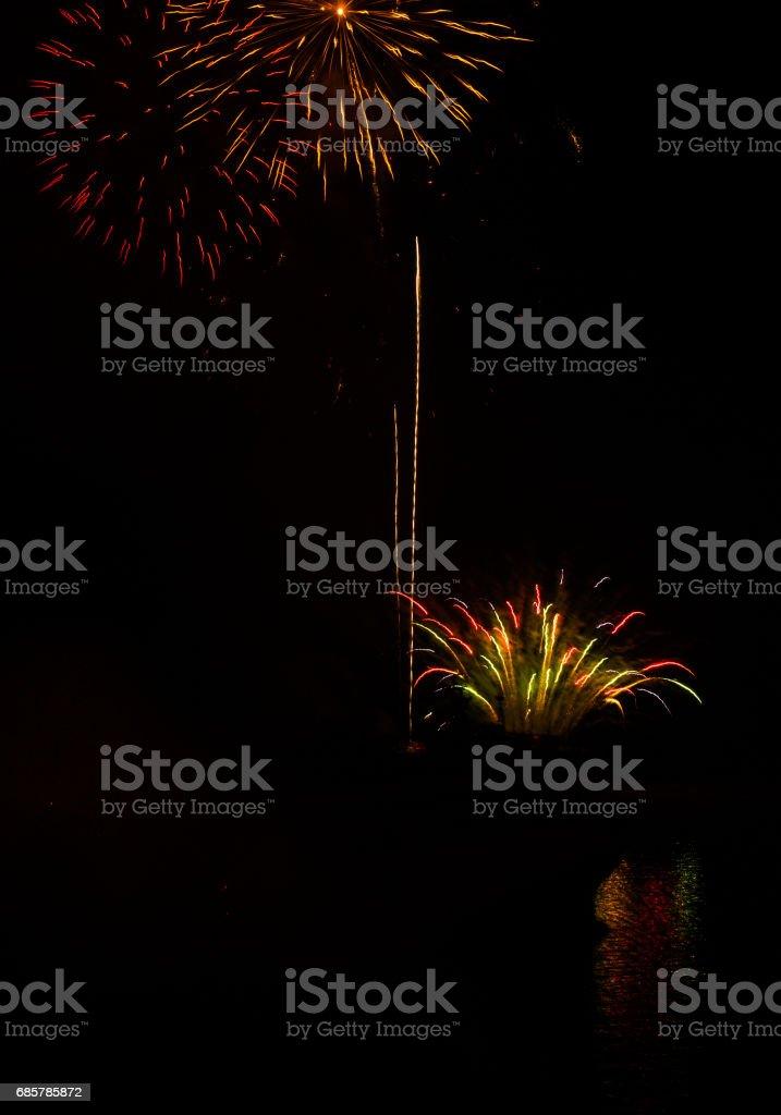 Carnival Fireworks in Patras, Peloponnese, Greece foto de stock libre de derechos