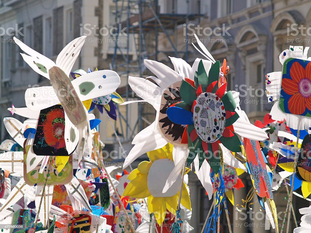Carnival Flags Notting Hill Carnival Flags, London 2015 Stock Photo