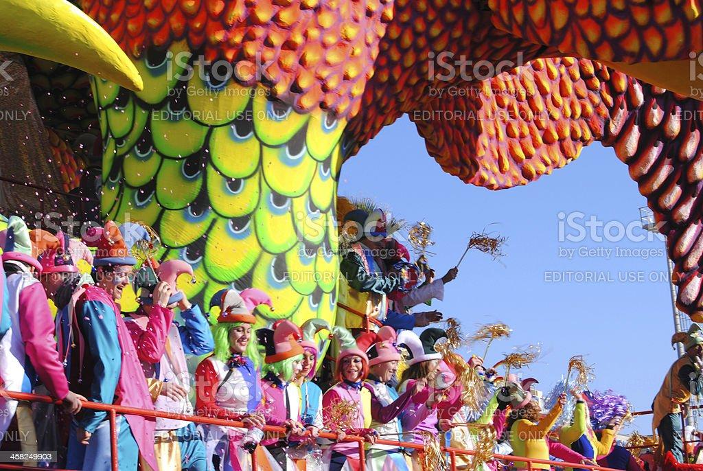Carnival float of Viareggio stock photo