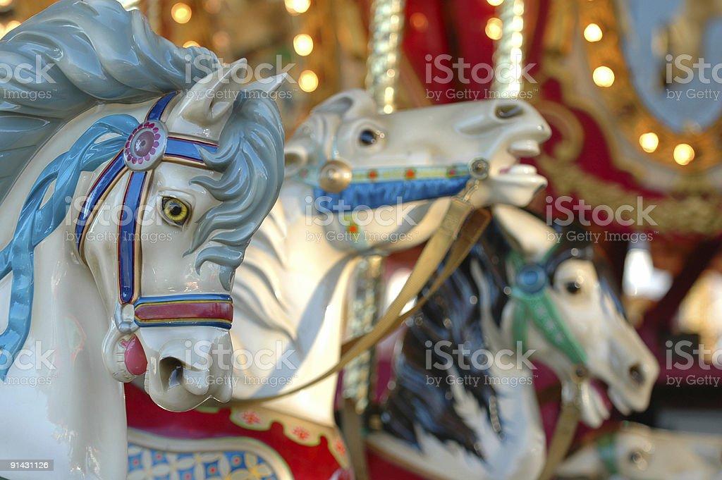Carnival Horses stock photo