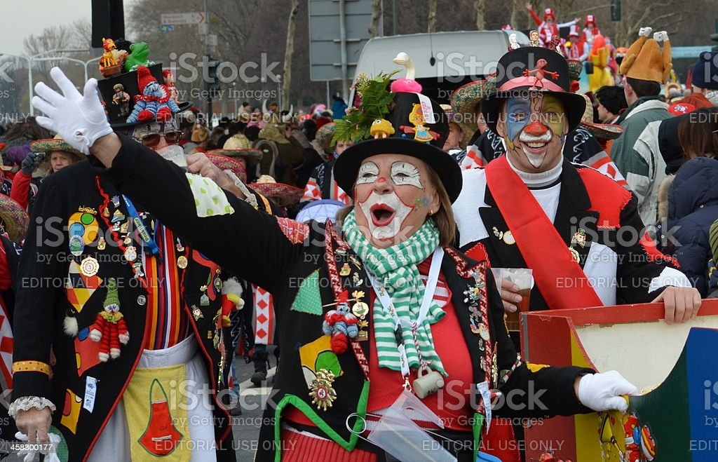 Carnival in Duesseldorf (Rose Monday Parade) stock photo