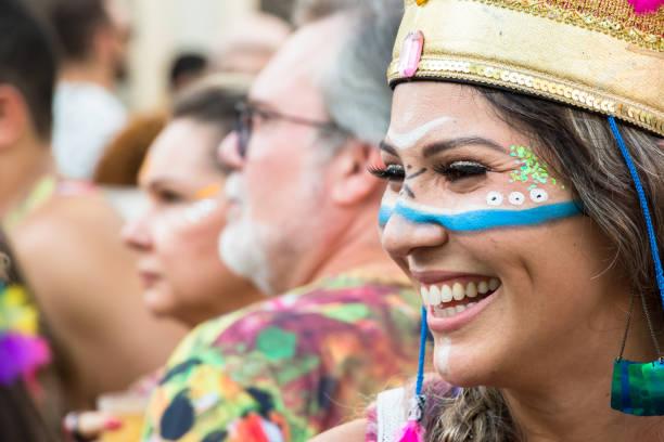 Carnival in Recife, Pernambuco, Brazil, 2018. stock photo