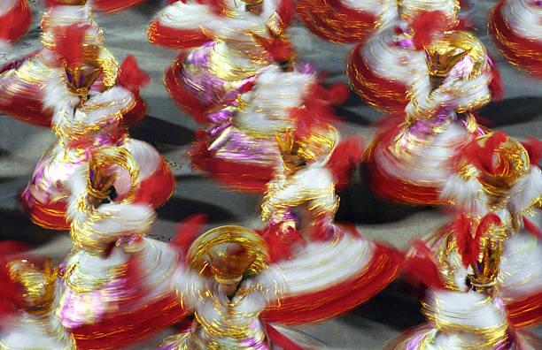 carnaval à rio de janeiro-baianas - carnaval de rio photos et images de collection