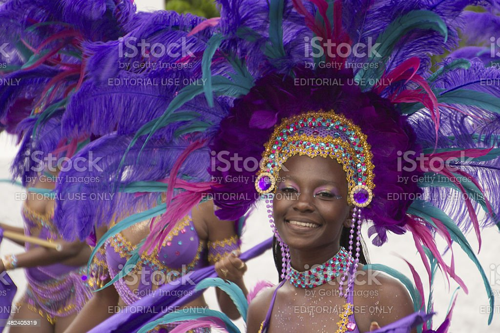 Carnival in St Thomas, US Virgin Islands stock photo