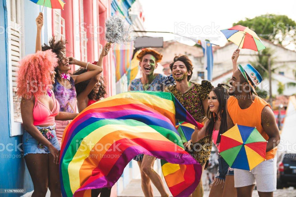 Carnival in the famous streets of Olinda Olinda, Brazil, Carnival - Celebration Event, Traveling Carnival, Day Adult Stock Photo