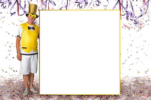 karneval informationen bord - faschingssprüche stock-fotos und bilder