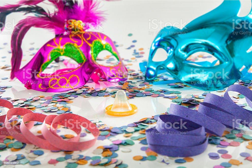 Carnival love protection stock photo