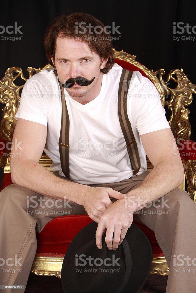 Carnival man posing for camera royalty-free stock photo
