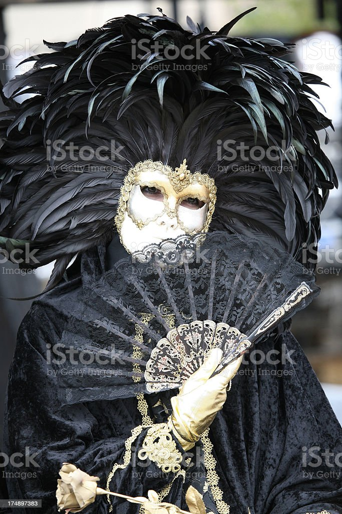 carnival mask: black queen royalty-free stock photo