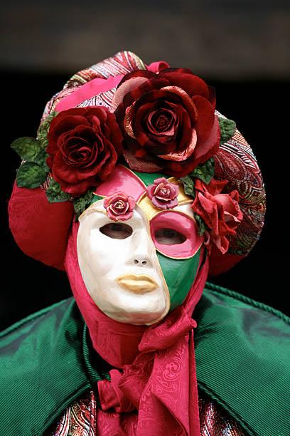 karneval maske: den garten - rosa camo party stock-fotos und bilder