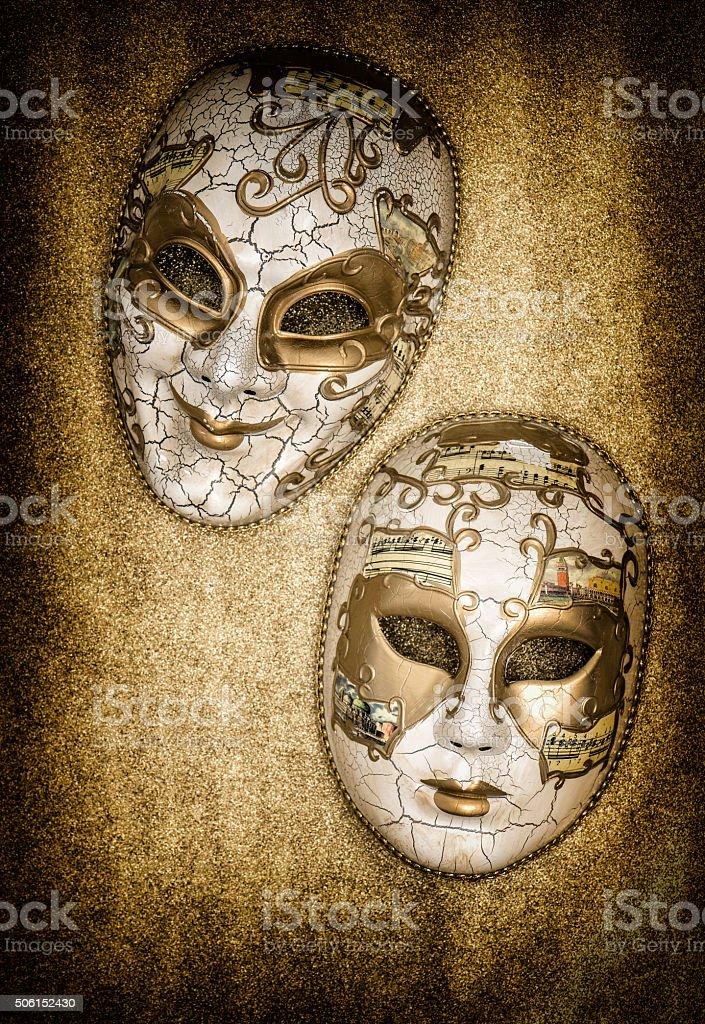 Carnival mask harlequin. Mardi gras. Venetian mask festival stock photo