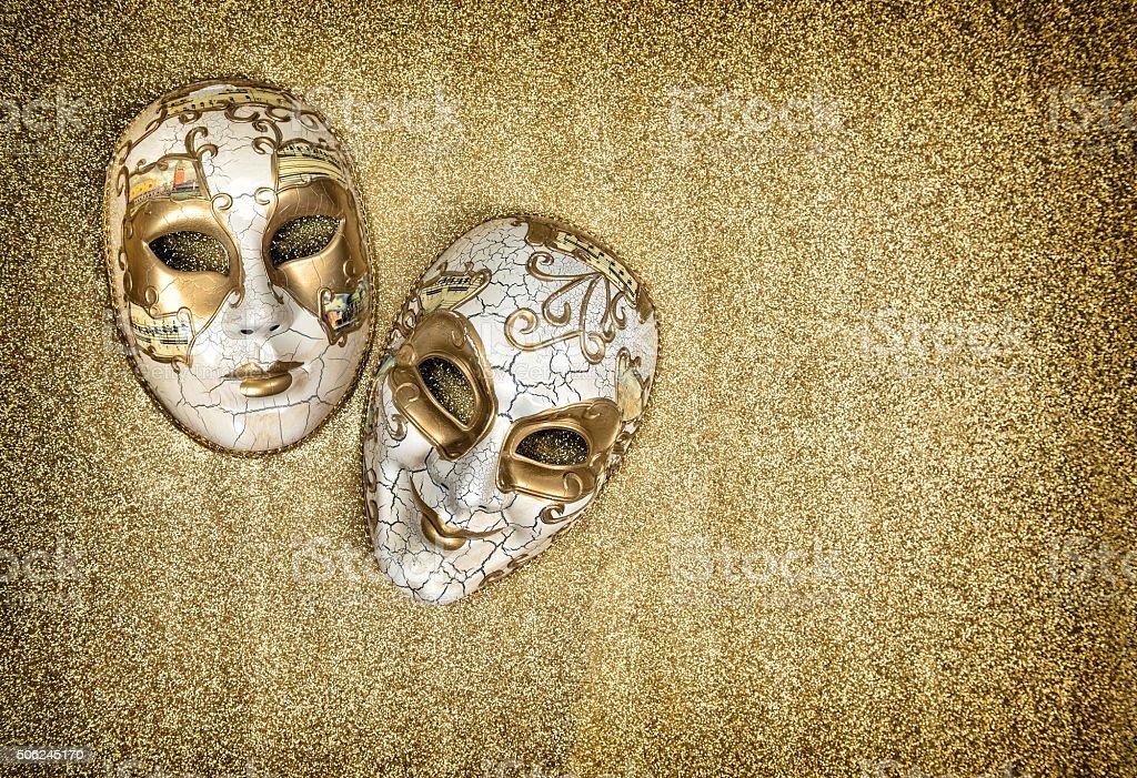 Carnival mask harlequin. Mardi gras. Vintage style stock photo