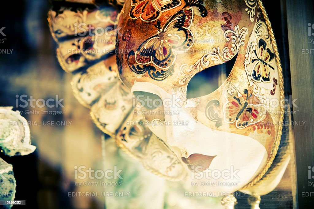 Carnival mask in a store royalty-free stock photo
